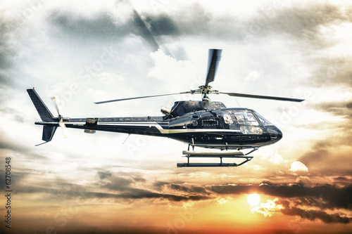 Poster Helicopter for sightseeing