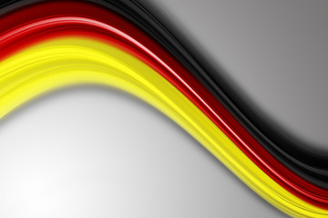illustrated german color wave for sport events