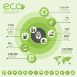 Flat Ecology Infographic Elements. Vector Illustration EPS 10. poster