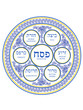 Passover Flowers Porcelain Plate - 62709583
