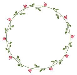 Elegant roses frame