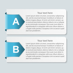 Abstract paper infographic. Vector illustration.