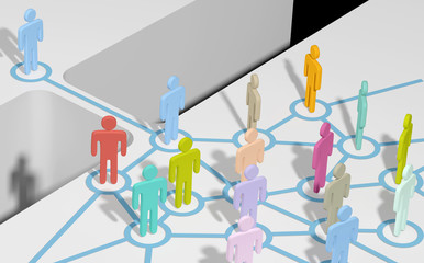 Person join social or business network