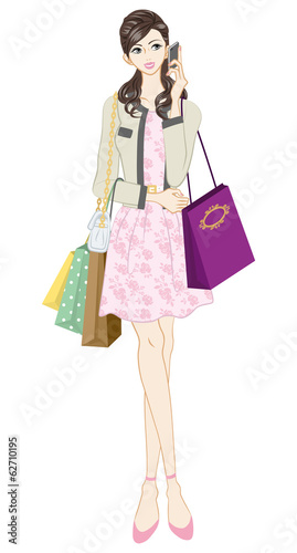 Shopping women, Feminine Fashion