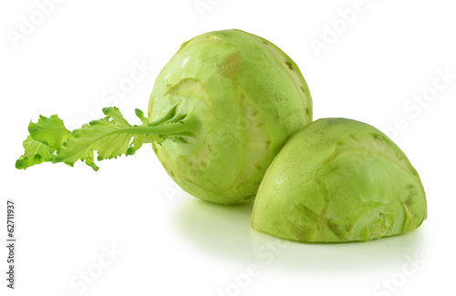 German turnips over white background