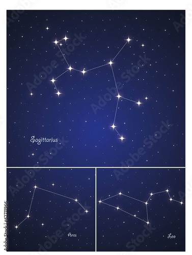 Constellations Sagittarius , Leo and Ares