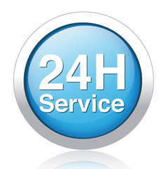 Service and support  24 hours a day and 7 days
