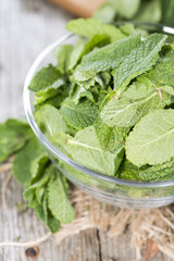 Bowl with Mint Leaves