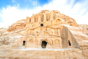 Obelisk tombs in the ancient Jordanian city of Petra, Jordan