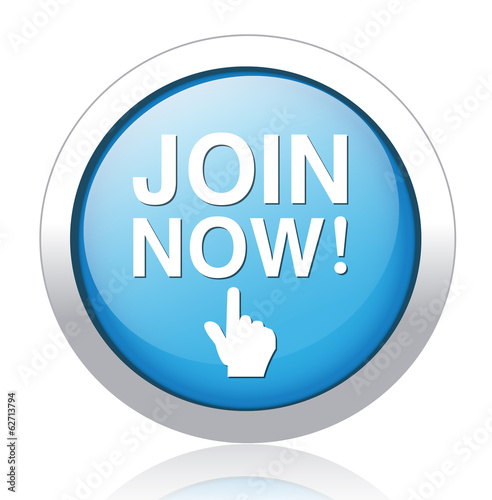 Join now button, registration icon and button