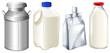 Different milk containers