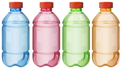 Bottles of safe drinking water