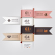 Modern web design template ribbon style. Vector illustration. ca