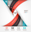 Abstract spiral infographics options banner. Vector illustration