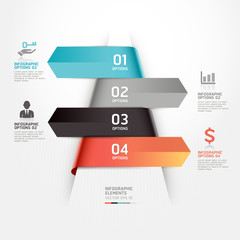 Abstract business infographics template. Vector illustration. ca
