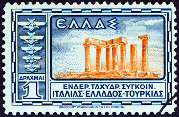 Temple of Apollo, Ancient Corinth (Greece 1933)