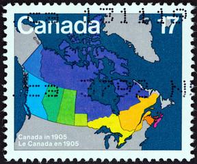Canada map in 1905 (Canada 1981)