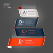 Modern step up options ribbon style. Vector illustration. can be