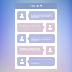 Mobile chat. Flat ui design.