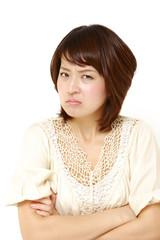 憤怒する女性