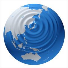 波紋の地球