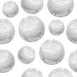 Volley Balls Seamless pattern. Vector illustration