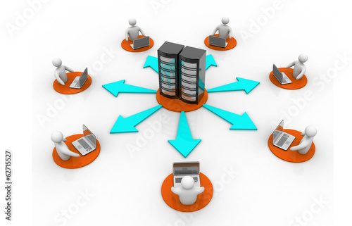 Network and internet communication concept