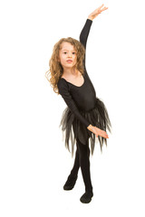 Girl in dance position