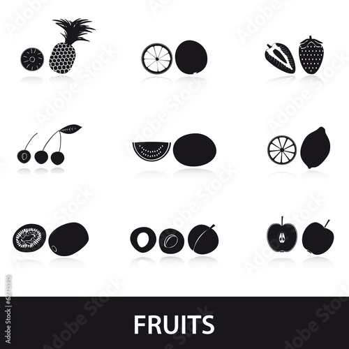 fruits and half fruits eps10