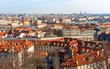 Nice view on Prague city