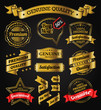 Vintage Badges, Labels and Banners - Gold Series