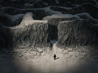 Man entering the maze