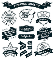Vintage Badges, Labels and Banners - Black Series