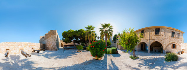 The medieval Castle in Larnaca. 360 degree panorama