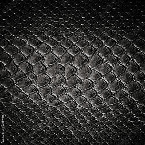 Foto Spatwand Stof Snake black skin leather texture