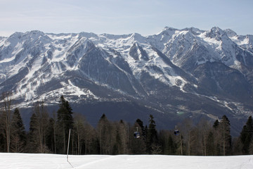 landscape with mountains near Sochi