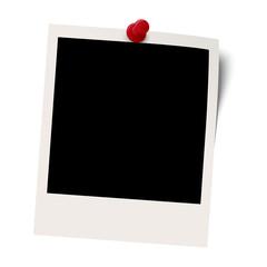 leeres Polaroid mit Pin