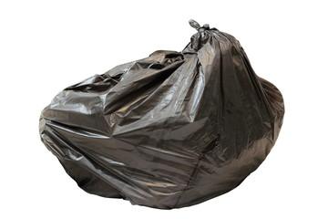 big black isolated garbage bag