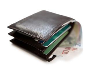 billets d'euro dans un portefeuille