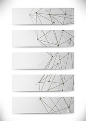 Molecular structure business cards collection