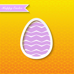 Happy Easter card design element