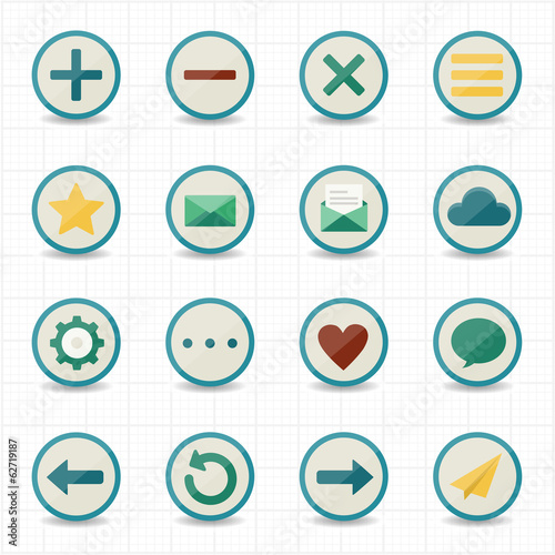 Internet web mobile icons with white background