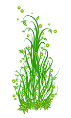 Spring in green - Illustration