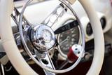 Retro interior of vintage car