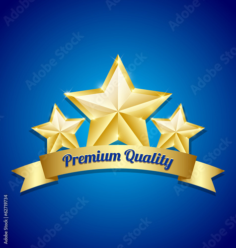Three golden stars symbol