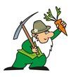 gardener and pickaxe