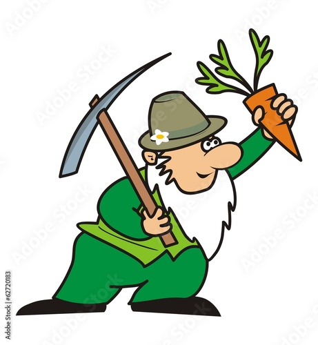 gardener and pickaxe