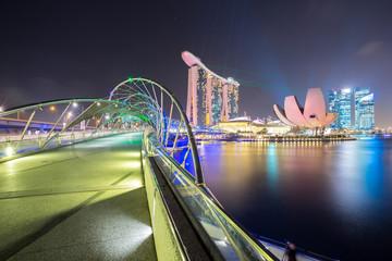Singapore Skyline dusk