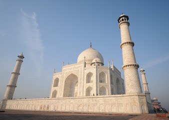 Taj Mahal in the early morning close-up