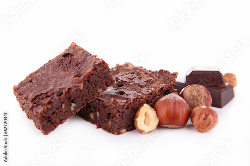 brownie and nuts
